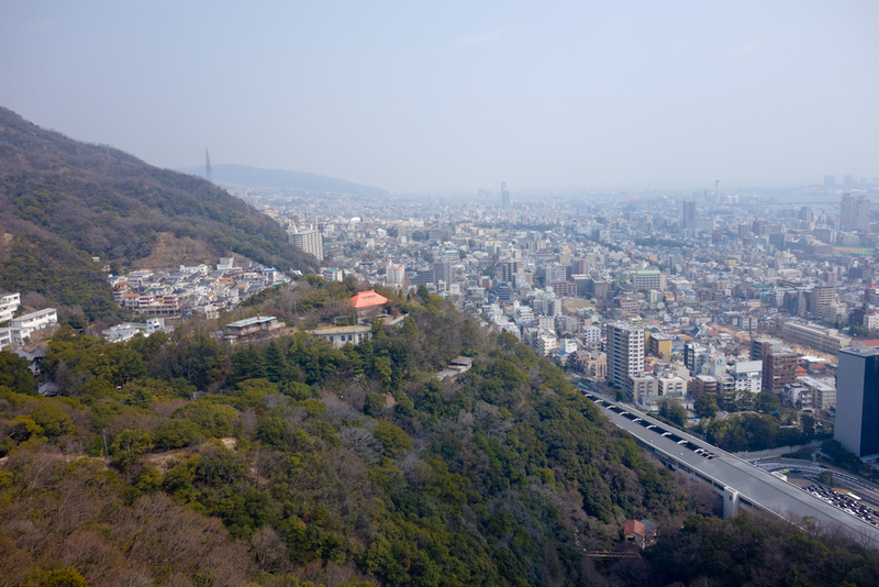 Japan-Kobe-Hiking-Garden-Takaoyama - Left view.