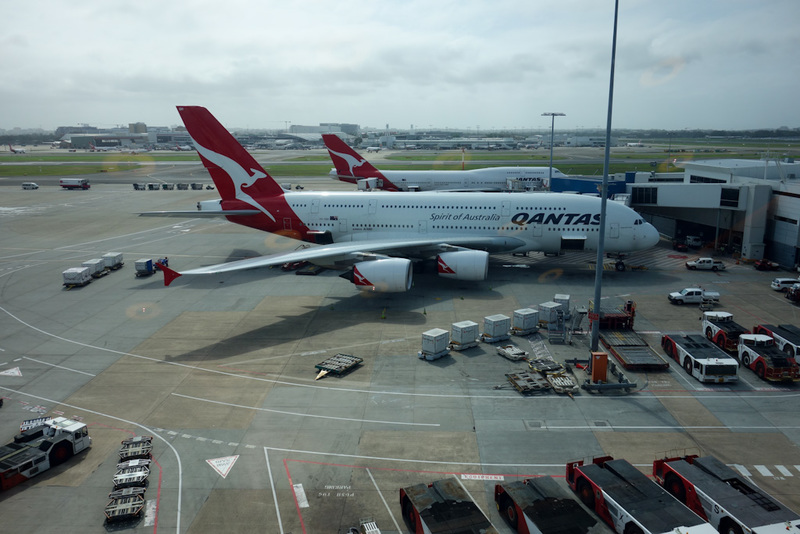 Adelaide-Sydney-Lounge - Qantas did not go on strike