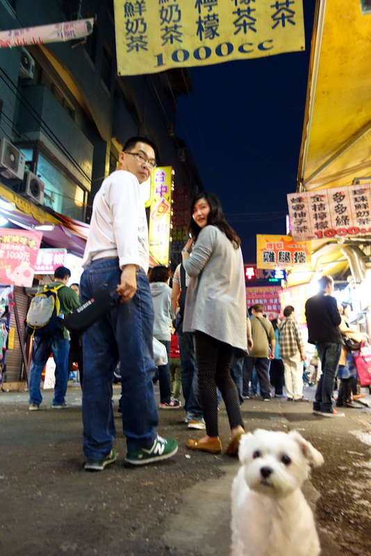 Taiwan-Taichung-Night Market-Fengjia - This puppy hates round eyes. I had to flee in terror.