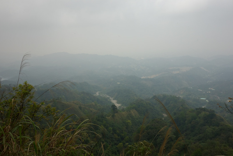 Taiwan-Taichung-Hiking-Dakeng - The view from the top is, hard to photograph with any kind of detail.