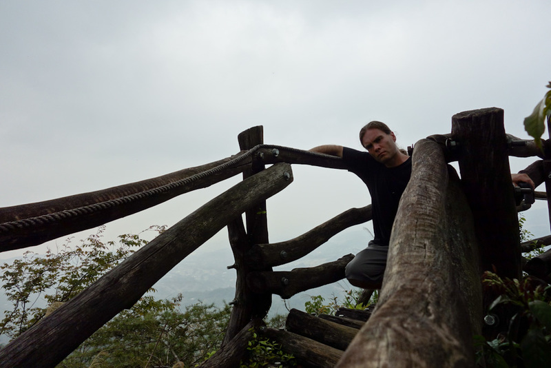 Taiwan-Taichung-Hiking-Dakeng - This is about the best I could do for a photo of me near the top. Trademark stance failure.