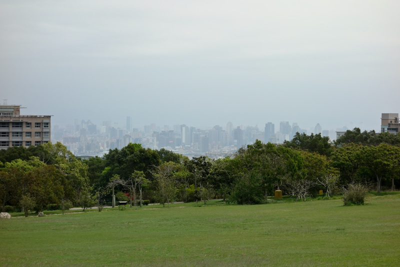 Taiwan-Taichung-Garden-Beef - The view of the city in the distance.