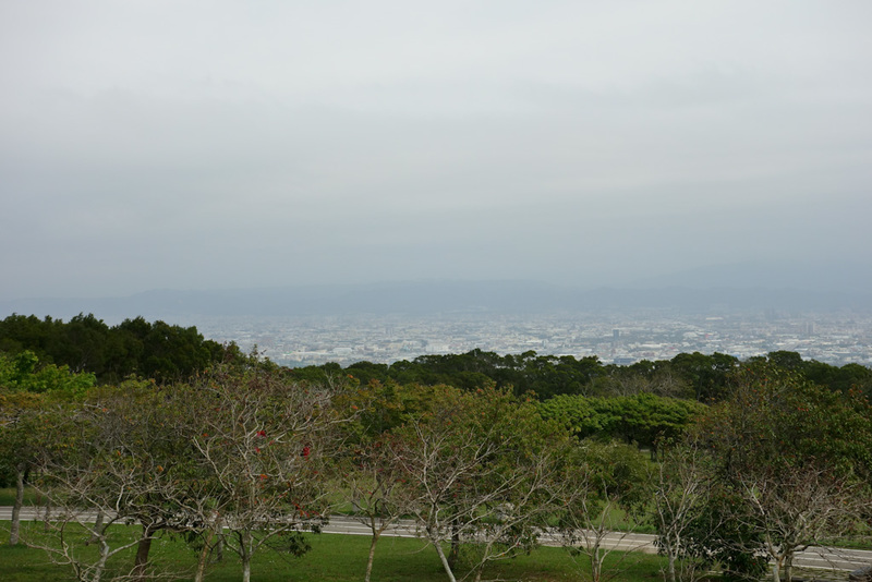 Taiwan-Taichung-Garden-Beef - And a lesser part of the city. If it were a clear day, this might be great. The park could do a better job to create a view, a raised platform, saw do