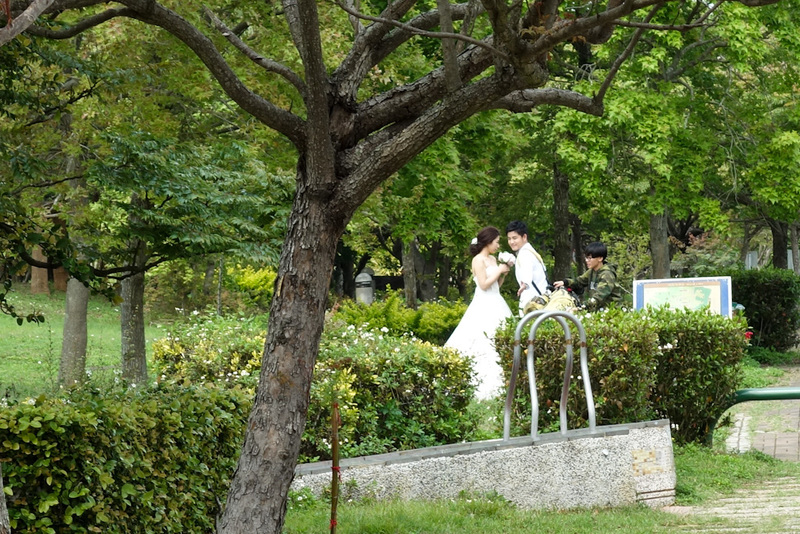 Taiwan-Taichung-Garden-Beef - As I exited, 2 bridal parties showed up, and set up right by the entrance gate, no point in walking I guess.