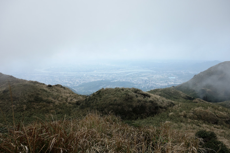 Taiwan-Taipei-Hiking-Yangmingshan - Every now and then the fog sort of blew away briefly for a view.