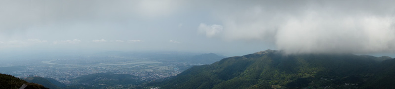 Taiwan-Taipei-Hiking-Yangmingshan - I took a panorama, its probably small cause I exported it at the same settings or something technical like that no one cares about. Maybe I will updat