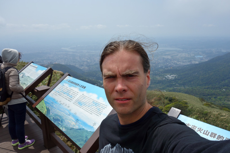 Taiwan-Taipei-Hiking-Yangmingshan - It was quite windy for all of my many selfies.
