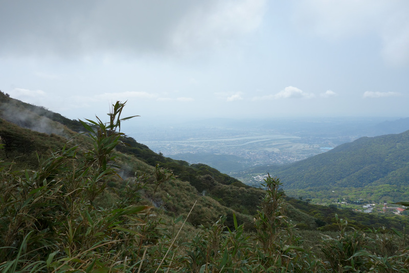 Taiwan-Taipei-Hiking-Yangmingshan - Nice view of the valley plus steam.