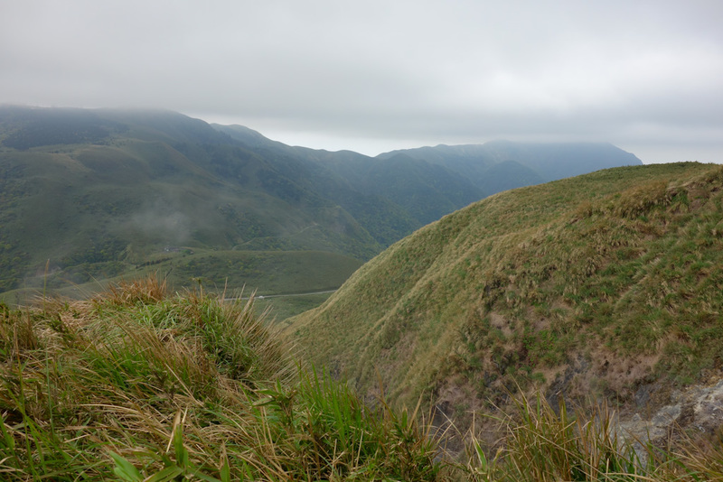 Taiwan-Taipei-Hiking-Yangmingshan - Looking back towards more mountains across the valley, maybe tomorrow!