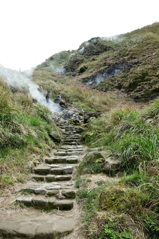Taiwan-Taipei-Hiking-Yangmingshan - More steam or gas or whatever it is.