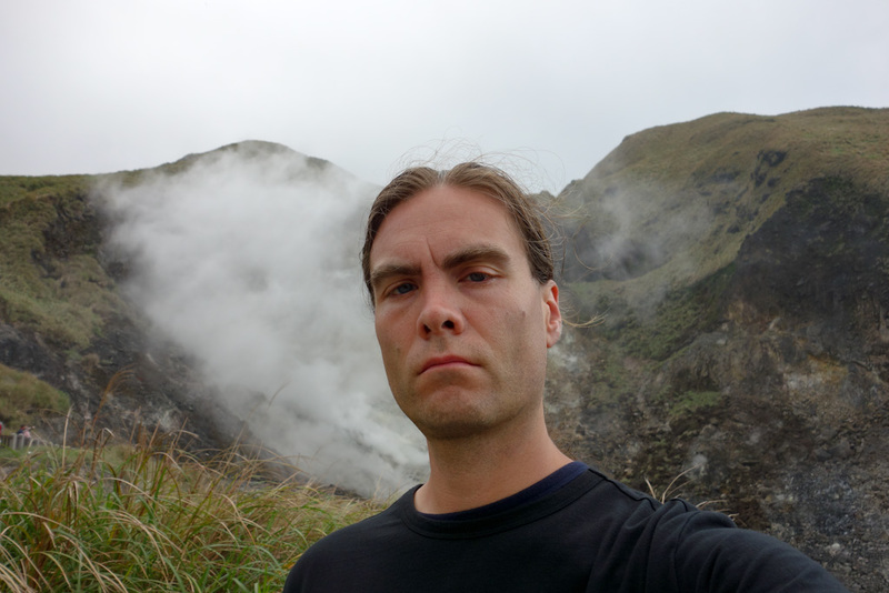 Taiwan-Taipei-Hiking-Yangmingshan - So I took a double chin selfie and set off. Walk around the base of the mountains back to the main bus station.