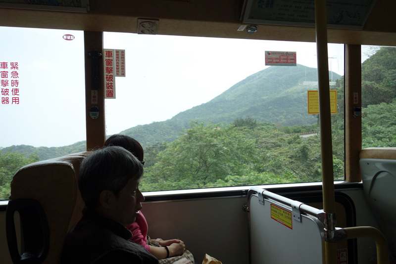 Taiwan-Ruifang-Jiufen-Hiking-Keelung Mountain - The ride on the bus was short, slightly worrying due to scooters passing on the inside around corners, and the bus would occasionally slam on the brak