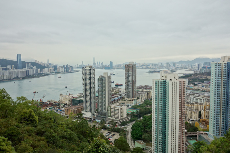 Hong Kong-Hiking-Tin Ha Shan - Decided to take this photo whilst half way up, just in case another fogpocalypse rolled in.