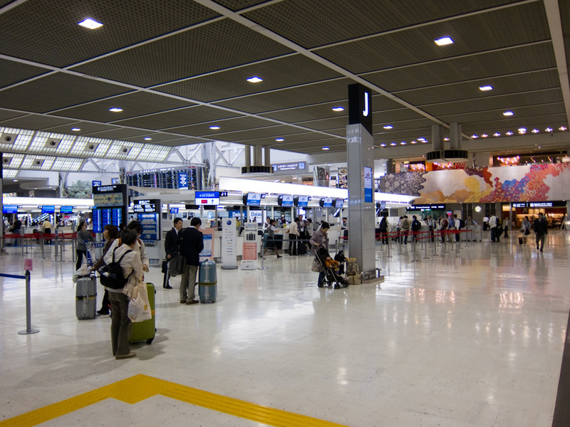 Japan-Tokyo-Narita-Airport-Lounge - Check in hall at Narita. Not particularly busy.