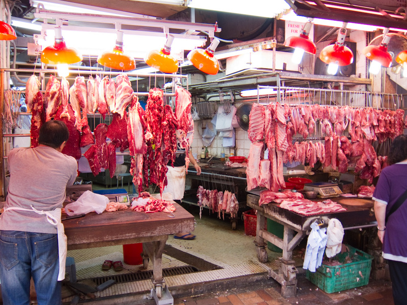 Hong Kong-Stanley-Star Ferry-Bus - And here is a meat area.