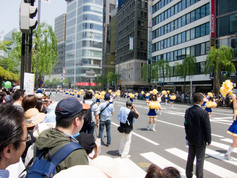 Japan-Tokyo-Ginza-Ikebukuro - Turns out it was a marching band competition, not sure what for, I saw a sign saying 'willow festival', pretty sure this was set to go for a few hours