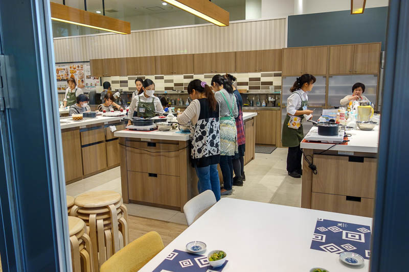 Japan-Tokyo-Mall-Koshigaya-Aeon Lake - Bored house wives can go to cooking classes at the mall instead of working. Once you get married in Japan, as a woman, your life is over. Accept it an