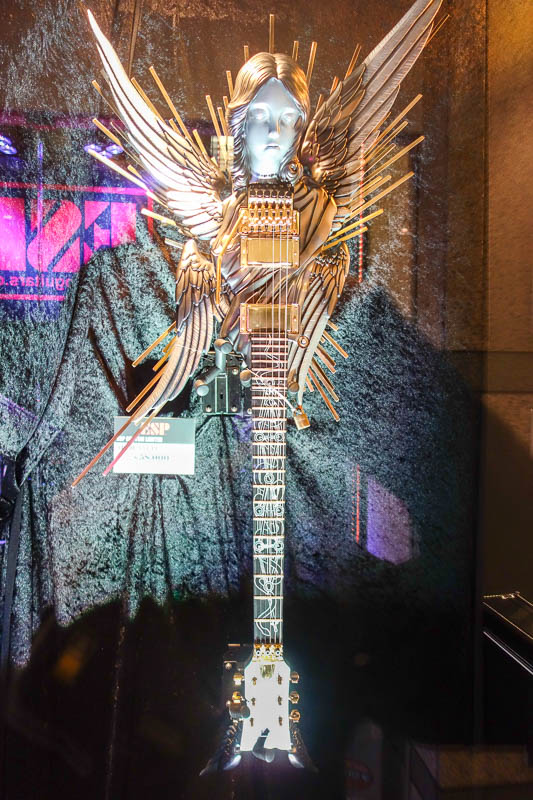 Japan-Tokyo-Bibimbap-Guitar - They had a heap of their ridiculous guitars on show in the gallery, I almost couldnt believe my eyes when it said 75,000. I thought thats only about $