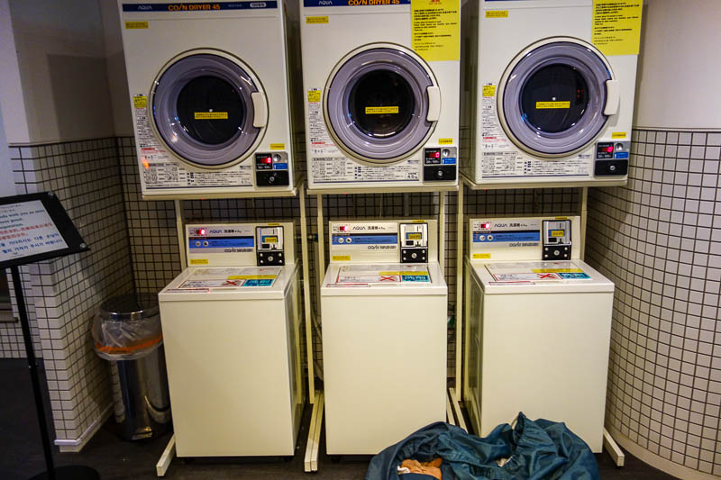 Japan-Tokyo-Bibimbap-Guitar - And finally, heres my washing machine station. Now trying on damp pants to see how much they have shrunk.