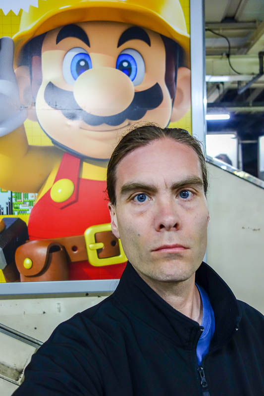 Japan-Tokyo-Shinjuku-Kabukicho-Ramen - Its me, with Super Mario. There have not been many photos of me due to my hideous post illness appearance, where my nose looks like Rudolph (popular r