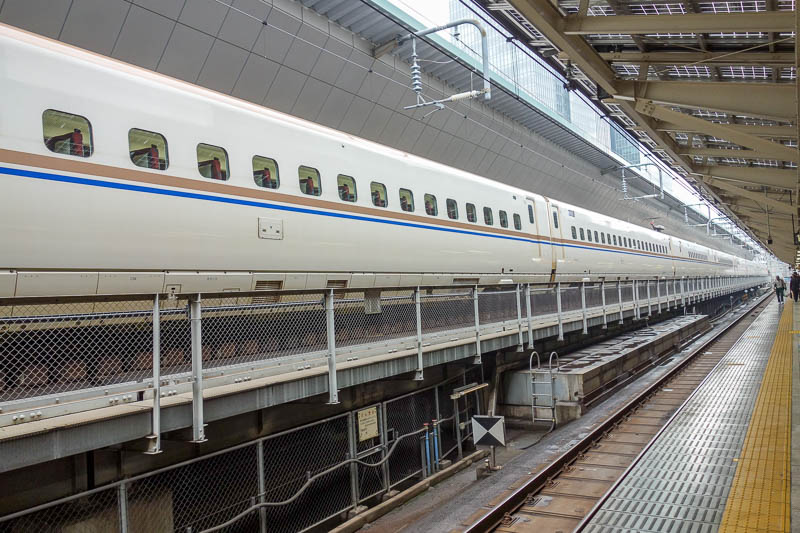 Japan-Tokyo-Nagoya-Shinkansen - This is my train. I took the 10 minute slower Hikari, instead of Nozomi, but as far as I could tell the equipment is the same '700 series', I had plen