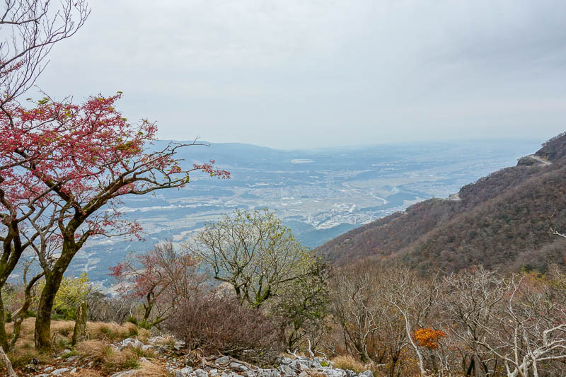 Japan-Nagoya-Hiking-Fujiwaragatake - It was a rare opportunity to see a view of sorts, about half way up here. This used to be a looping course, but an avalanche destroyed the alternate w