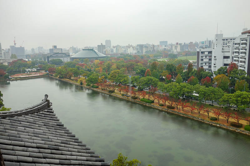 Japan-Hiroshima-Castle-Rain-Memorial - Rainy bomb day