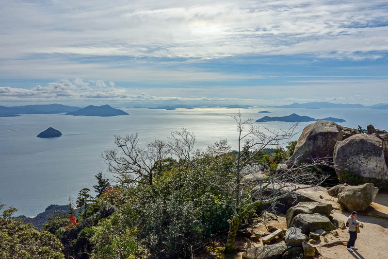 Japan-Hiroshima-Miyajima-Hiking-Mount Misen - Not a bad view.