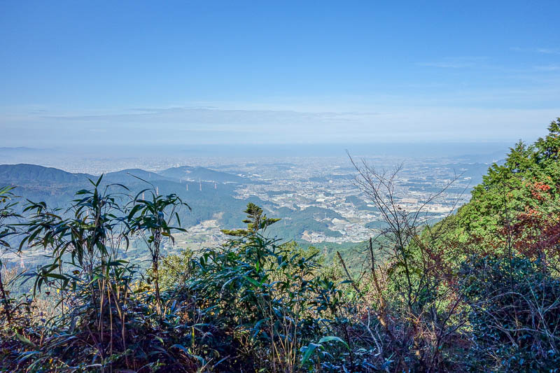 Japan-Fukuoka-Hiking-Mount Homan-Dazaifu - Like most mountains in Japan, there is rarely a view until you get to the top due to excess trees in the way. Hence when you do get a view, best to ta