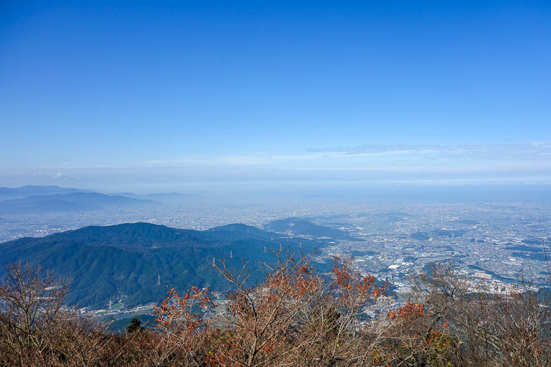 Japan-Fukuoka-Hiking-Mount Homan-Dazaifu - Now I am at the top, and theres Fukuoka.