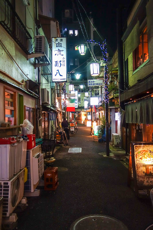Japan-Tokyo-Ikebukuro-Guitar-Curry - I found a suitably dark and mysterious back alley to locate my dinner.