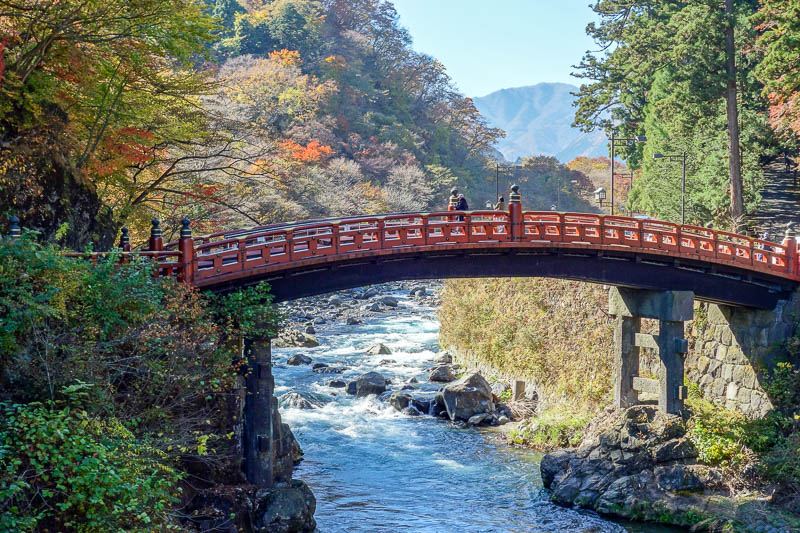 Japan-Nikko-Autumn-Bridge - Sleepy train ride