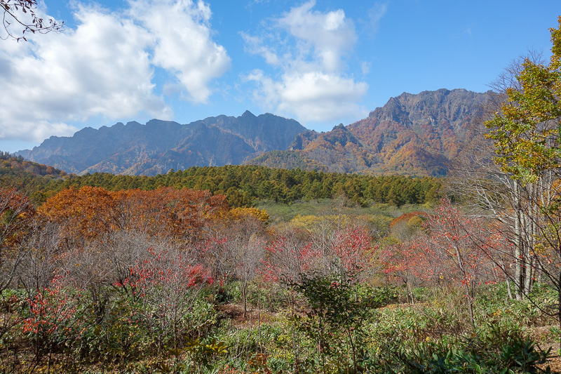Japan-Nagano-Togakushi-Hiking-Autumn Colors - Looks like an old postcard with fake colors, but thats what it really looked like.