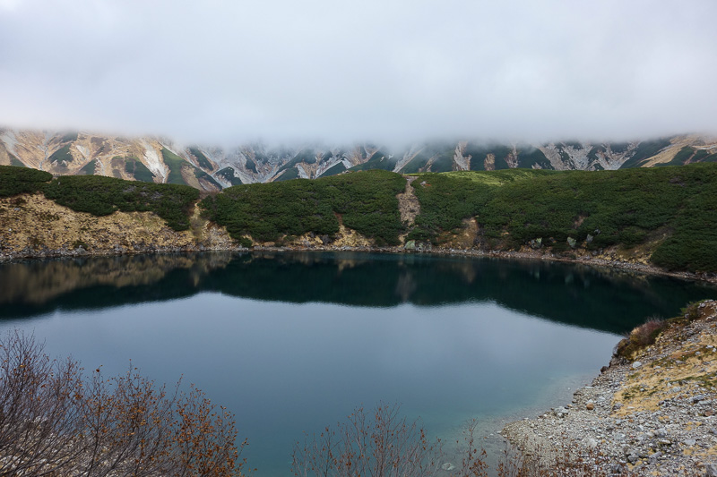 Japan-Tateyama-Kurobe-Alpine-Hiking - I was off and racing, first I walked around this volcano crater.