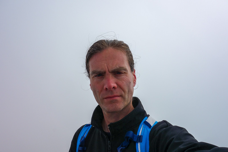 Japan-Tateyama-Kurobe-Alpine-Hiking - Me with some ice crystals on my face. I wiped frozen snot from my nose.