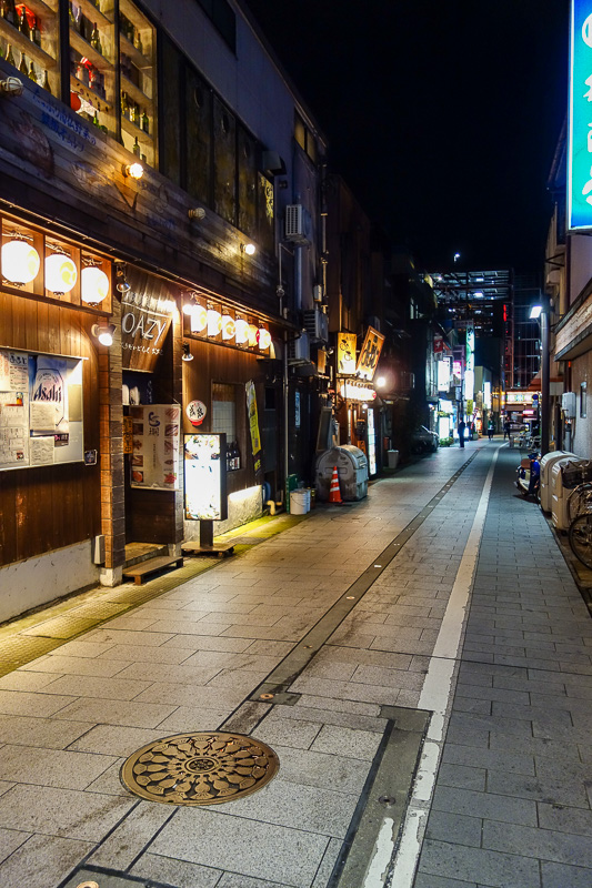 Japan-Toyama-Castle-Ramen - Just a random small restaurant street I found near my hotel. They did not have a negro ramen shop here though.