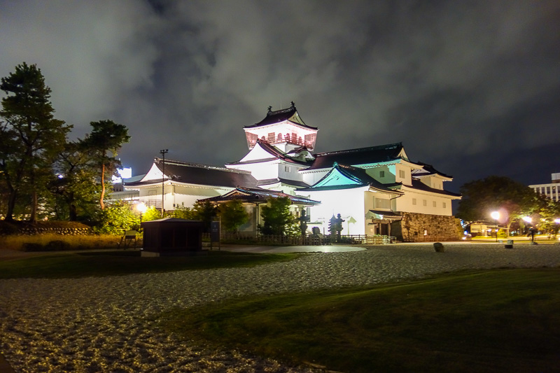 Japan-Toyama-Castle-Ramen - 1/8 shutter speed hand held night, multi frame noise reduction, high iso, nice clouds.