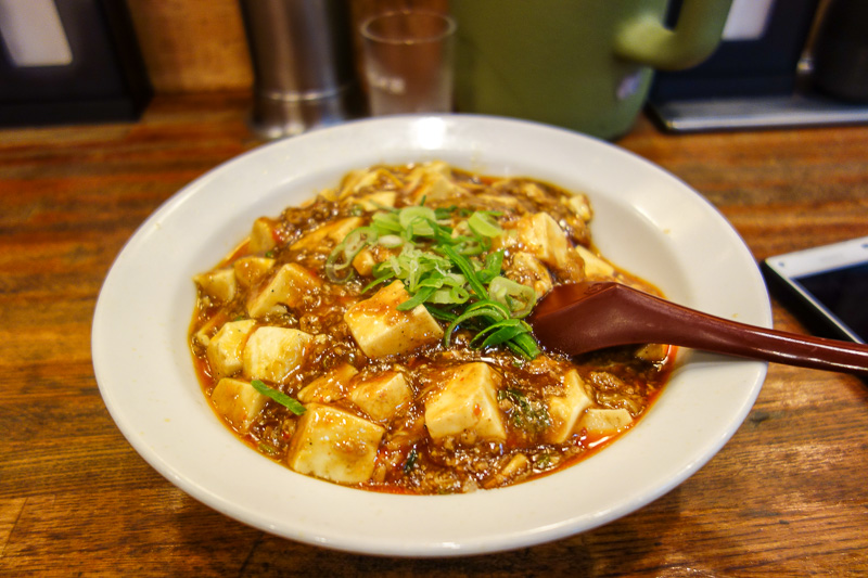 Japan-Kyoto-Shopping Street-Mapo Tofu - Despite not getting octopus and fish flake with noodles calzone, I was very happy with my dinner of Mapo Tofu. Quite authentic (I am qualified to say