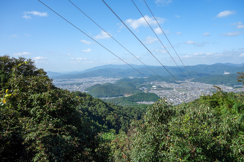 Japan-Kyoto-Hiking-Mount Hiei - One of the few opportunities for a view on the way up. Still quite hazey. Nice powerlines.