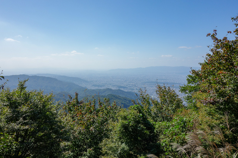 Japan-Kyoto-Hiking-Mount Hiei - This is not the actual top, but it might have the best view. It is where you change from one cable car to another. Or if you are me, continue walking