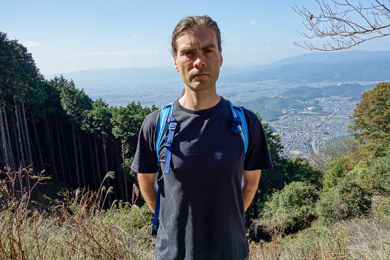 Japan-Kyoto-Hiking-Mount Hiei - A different kind of selfie. Cant see my awesome stance.