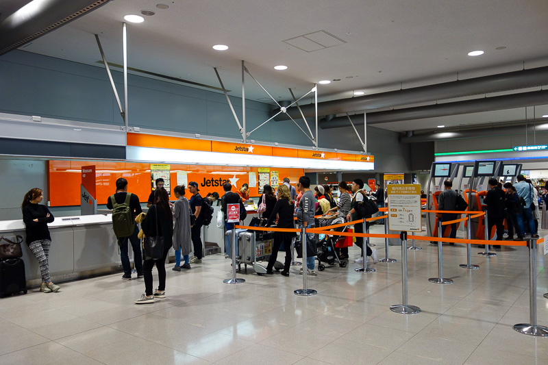 Japan-Osaka-Sapporo-Kansai-Chitose - Jetstar check in, no line.