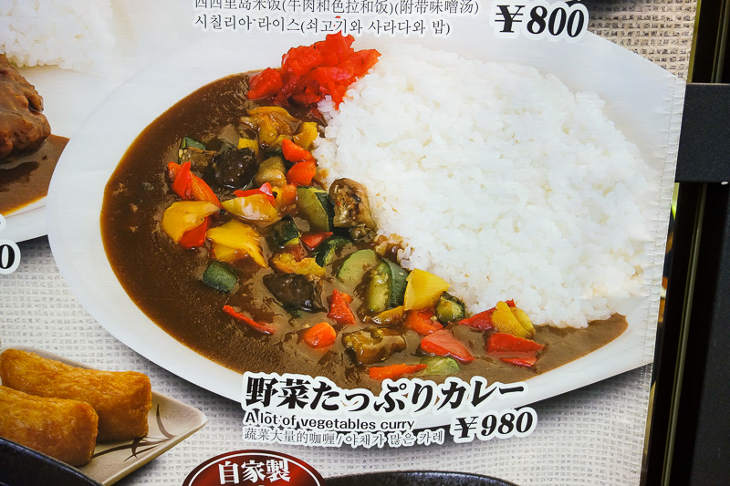 Japan-Osaka-Sapporo-Kansai-Chitose - I should have had this for lunch. A lot of vegetables.