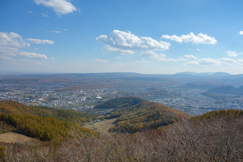 Japan-Sapporo-Hiking-Mount Moiwa - Very little smog.