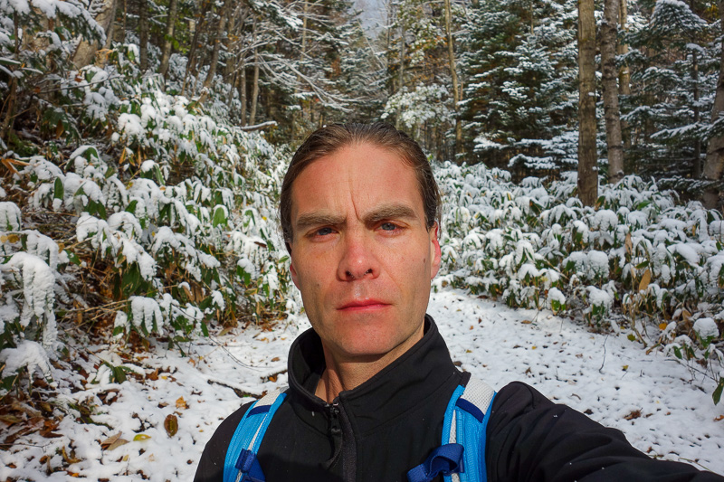 Japan-Sapporo-Hiking-Snow-Mount Soranuma - Selfie time, I was not yet aware I was on the completely wrong path. So so wrong.