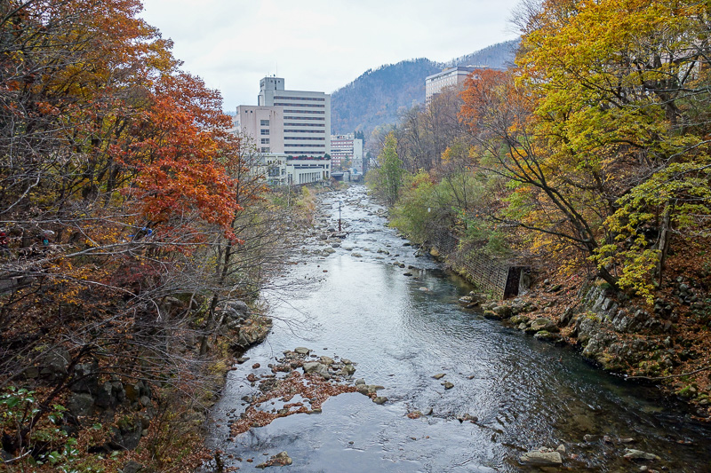 Japan-Sapporo-Snow-Hiking-Jozankei Onsen - Excellent view from the bridge.