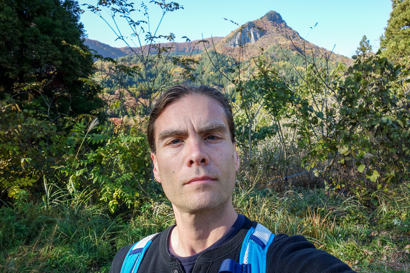 Japan-Sendai-Omoshiroyama-Hiking-Yamadera - Another awkward selfie.