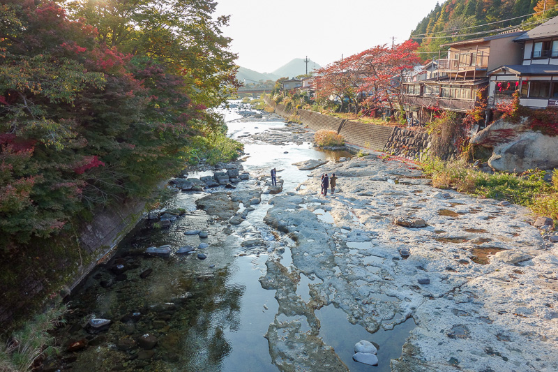 Japan-Sendai-Omoshiroyama-Hiking-Yamadera - The temple town of Yamadera is nice, you can go and splash in the open sewer.
