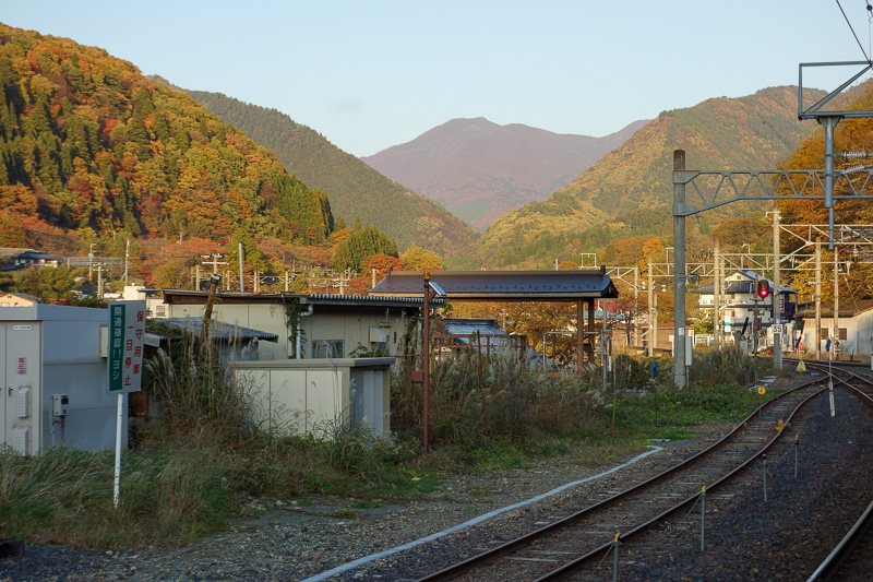 Japan-Sendai-Omoshiroyama-Hiking-Yamadera - And whilst waiting for the train, tomorrows mountain stares at me, mocking my failure. I typed todays update really fast because the train back took s