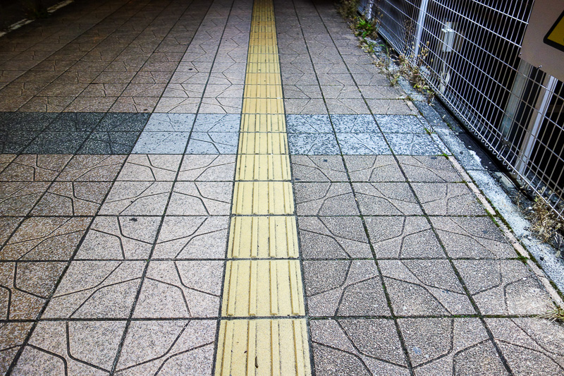 Japan-Sendai-Kokubuncho-Food-Pasta - You notice in Japan that no matter where you are, they have these blind person tiles everywhere. They have them inside some shops even. I am still wai